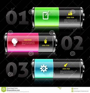 Battery 3d With Icons  Stock Vector  Illustration Of Label