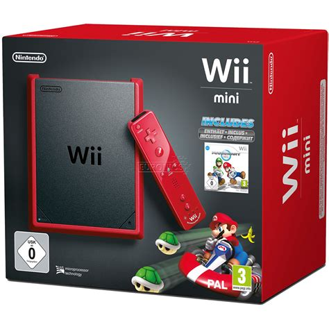 console wii mini console wii mini mario kart wii nintendo 045496343255
