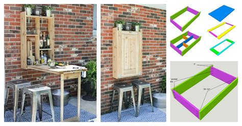 diy cool fold  outdoor murphy bar  creative idea