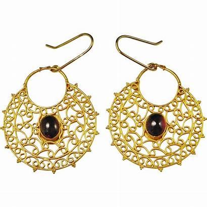 Byzantine Jewelry Earrings Gold 22k Ancient Century