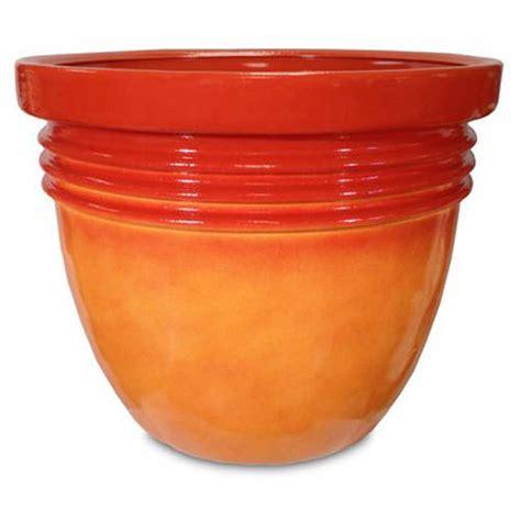 walmart planters better homes and gardens 16 quot bombay decorative planter marigold walmart com