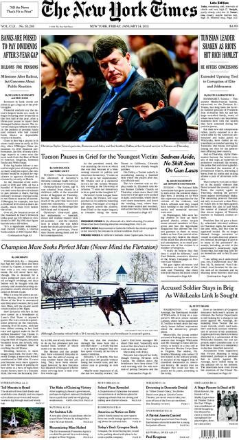 Front Page Scan  New York Times