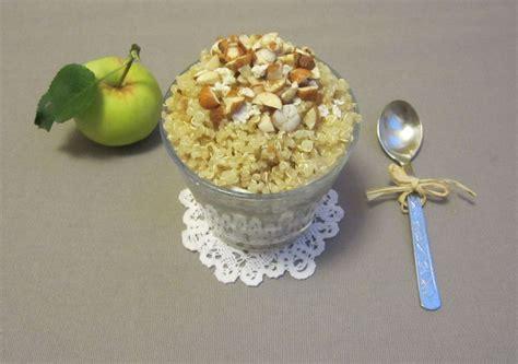 Jabolčna kvinoja s skuto, cimetom in lešniki | Cook Eat and Smile