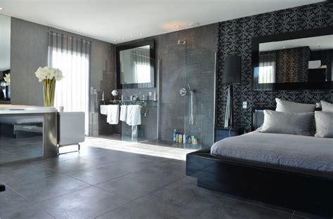 amenagement chambre parentale avec salle bain chambre avec dressing et salle de bain en 55 idées