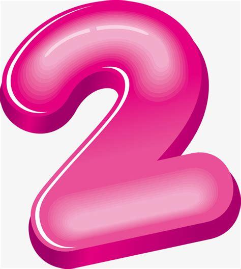 Rosa Numero 2 Números De 3d Números Arábigos Figuras De