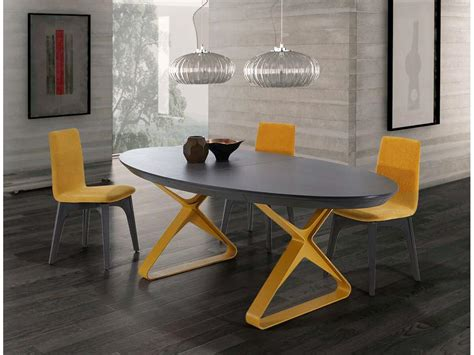 roche bobois canapé cuir table ovale extensible céramique pieds métal à esmans