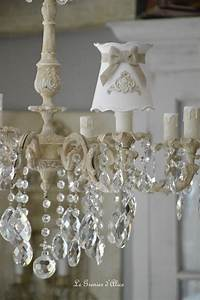 Shabby Chic Lampe : 17 best images about abat jour pieds de lampe lampshade shabby chic on pinterest lace lamp ~ Eleganceandgraceweddings.com Haus und Dekorationen