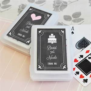 chalkboard wedding personalized playing cards With playing cards wedding favors