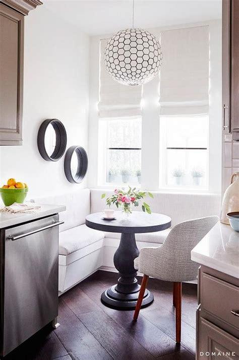 kitchen   shaped banquette transitional kitchen