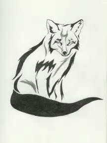 Tribal Fox Drawings in Pencil