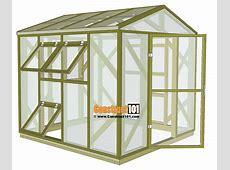 Greenhouse Plans 8'x8' StepByStep Plans Construct101