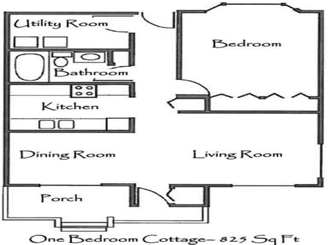 Onebedroom Cottage Plans One Bedroom Cottage Floor Plans