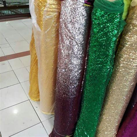 kain sequin seribu payet kain sequin seribu payet vlog back ground dress shopee indonesia