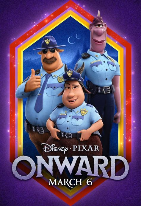 pixar releases  onward trailer  character posters