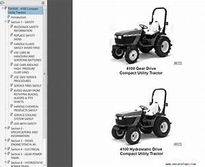 John Deere 4100 Tractor Compact Utility Tm1630 Technical