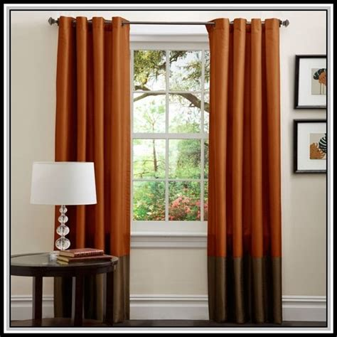 burnt orange curtains brown and burnt orange curtains curtains home