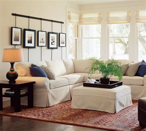 pottery barn sectional pb basic sectional component slipcovers pottery barn
