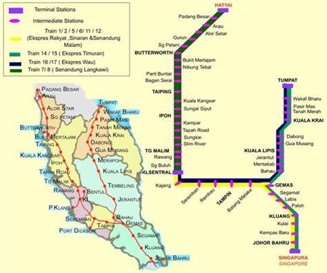 ktm train timetable  fare visit malaysia year