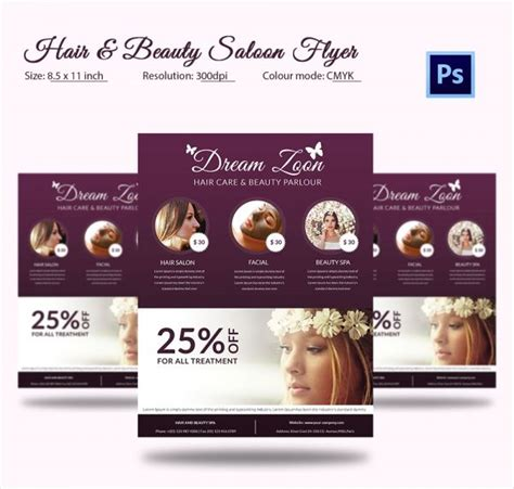 Free Relaxing Salon For Bi Fold Psd Brochure By Elegantflyer Free Salon Flyer Templates Best Of Design Hair Flyers Free
