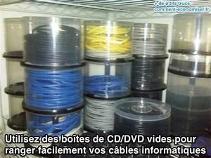 Rangement Cable Bureau : un rangement ing nieux pour les c bles informatiques ~ Premium-room.com Idées de Décoration