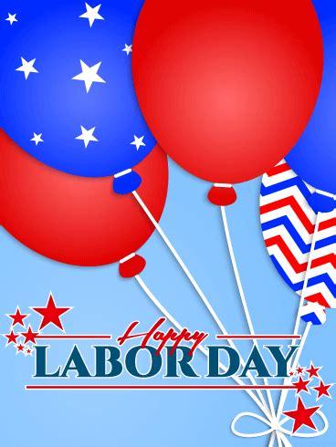 fun balloon happy labor day card birthday greeting