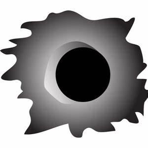 Silhouette Design Store - View Design #14399: bullet hole pc