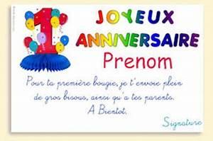 Texte Anniversaire 1 An Garçon : message carte anniversaire 1001 ~ Melissatoandfro.com Idées de Décoration