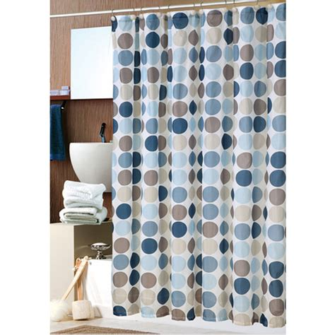 Blue Bathroom Sets Walmart by Mainstays 13pc Fabric Shower Curtain And Decorative Hooks