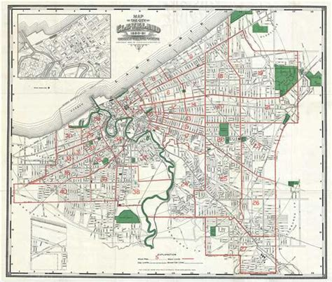 map   city  cleveland    geographicus