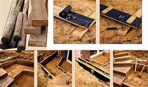 Hang Befestigen Mit Holz : bohlen geben dem hang sicheren halt heimwerken ~ Articles-book.com Haus und Dekorationen