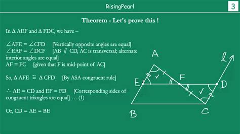mid point theorem  proof youtube