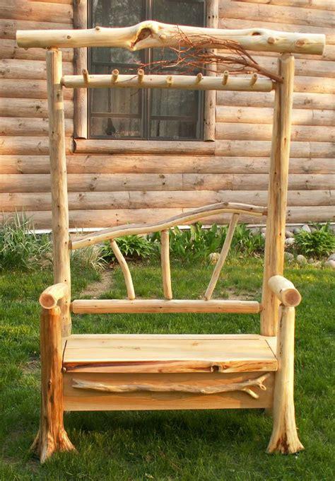 log bench ideas rustic log furniture log furniture