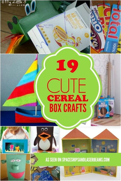 box crafts ideas 19 cereal box crafts spaceships and laser beams 1165