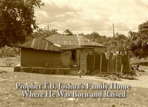 pictures of home this is the house tb joshua was born in religion 41794