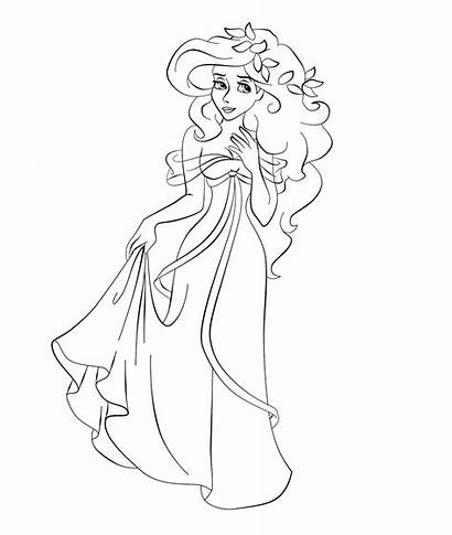 Giselle Coloring Princess Disney Cartoon Character Pages