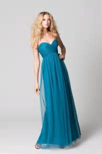 teal bridesmaids dresses affordable bridesmaids dresses fall 2012 wtoo by watters bridal teal onewed