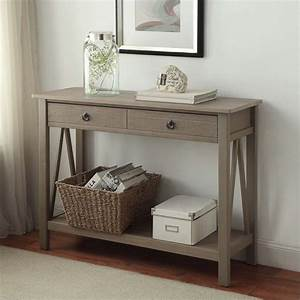Console Table in Rustic Gray - 86152GRY01U