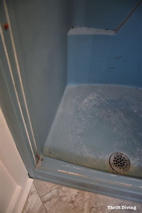 diy shower  tub refinishing  painted    shower