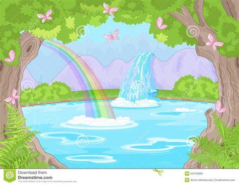 Fabulous Waterfall Stock Vector