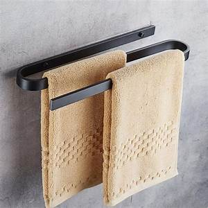 Unique, Design, Aluminum, Alloy, Wall, Mounted, Towel, Bar, Holder, Bathroom, Wall, Mounted, Towel, Rack, For