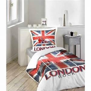 Housse de couette londres london linge de lit londres for Suspension chambre enfant avec housse de couette drapeau angleterre