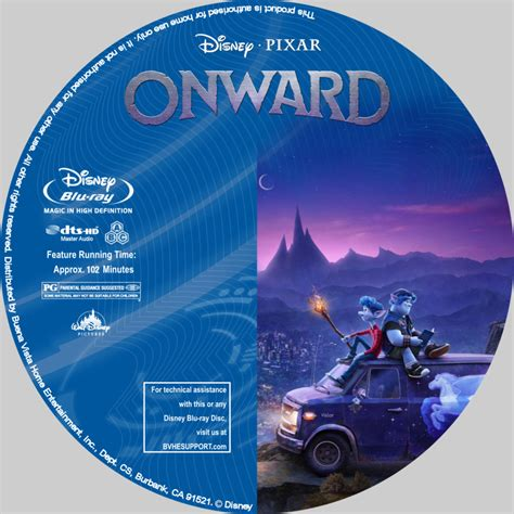 onward   custom blu ray label dvdcovercom