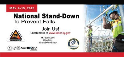 ky labor cabinet division of employment standards stand successes 2015 stop construction falls
