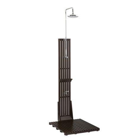Brand New Allen + Roth Dark Brown Outdoor Shower Ebay
