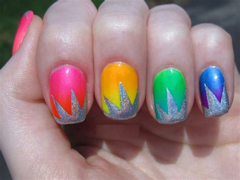 bright color nail designs 12 bright nail designs images neon color nail design