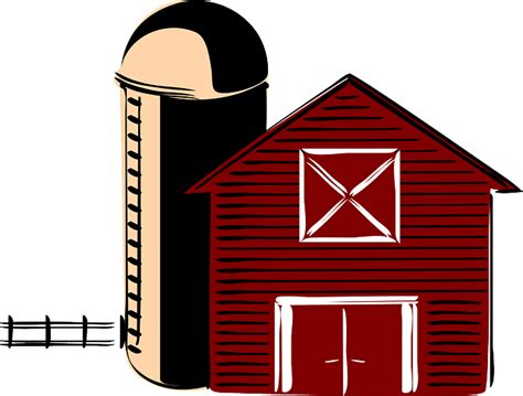 Barn Clipart by Free Vector Graphic Barn Traditional Silo America
