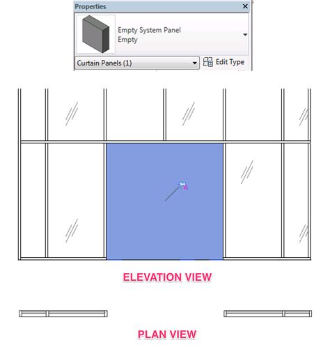 how to show demolition door in an existing curtain wall