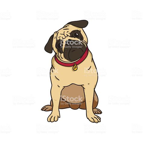 Pug Clip Abstract Illustration Of A Puppy Pug Stock Vector