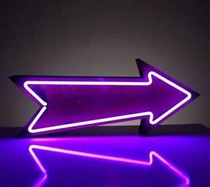 Neon Pi Beta Phi arrow piphi pibetaphi