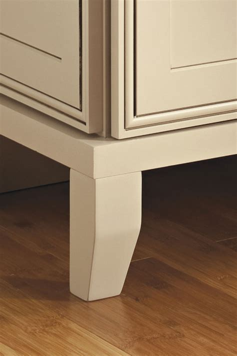 tapered cabinet foot decora cabinetry